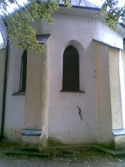 Old church with cracked wall