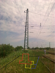 Railroad overhead line pillar